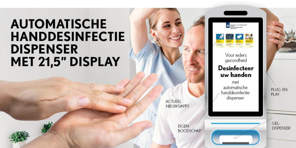 automatische handdesinfectie dispenser met display